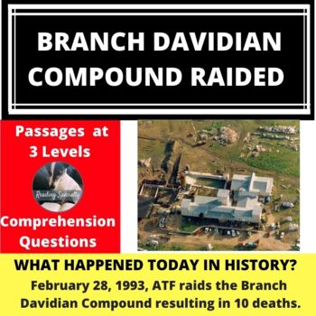 Waco Branch Davidian Compound Raided Differentiated Reading Passage Feb 28