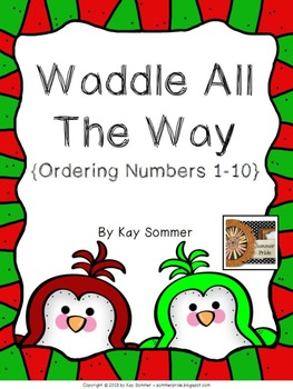 Ordering Numbers 1-10 {penguin themed} {FREE}