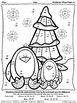 Waddle Into Winter ~ Penguin Math Printables Color By The