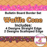 Waffle Cone Bulletin Board Border Ice Cream Cone Trim