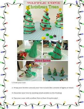 Waffle Cone Christmas Tree Directions