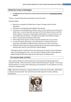 Wag the Dog film- Teacher Text Guides & Worksheets