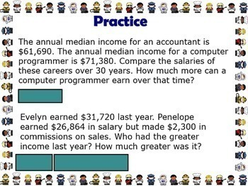 Wages Salaries and Careers Smartboard Worksheets Financial Literacy Money