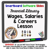 Wages Salaries and Careers Smartboard Worksheets Activity Financial Literacy