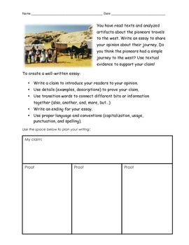 Essay Prompt & Rubric - Westward Expansion on the Wagon Train