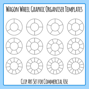 Wagon Wheel Graphic Organizer Blank Templates Clip Art for Commercial Use