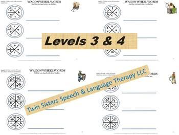Wagon Wheel Words: Spelling, Reading, Artic. & Problem Solving Skills