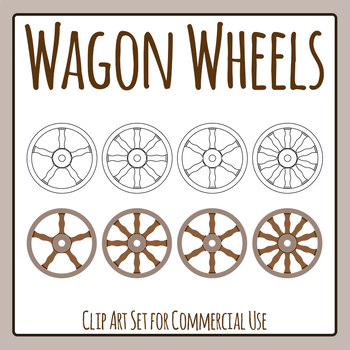 Wagon Wheels Clip Art for Commercial Usee