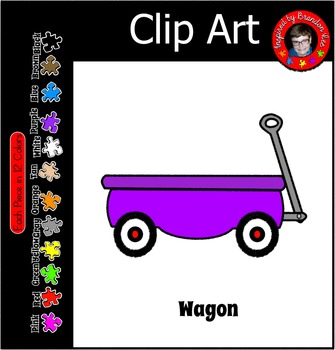 Wagon in 12 Colors Clip Art ~ W ~ Commercial Use and Free