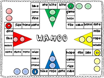 Wahoo Word Game - CVCE words