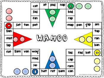 Wahoo Word Game - short a CVC words