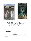 Wait Till Helen Comes Novel Unit