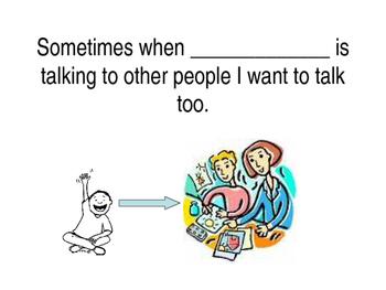 Wait to Talk (school) social story