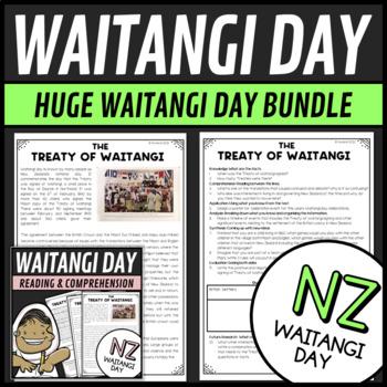 Waitangi Day Bundle 3 Activities Reading, Math Puzzles and Writing Class Treaty