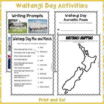Treaty of Waitangi Literacy Bundle for Waitangi Day Reading Writing