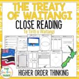 Treaty of Waitangi New Zealand Reading Comprehension Passa
