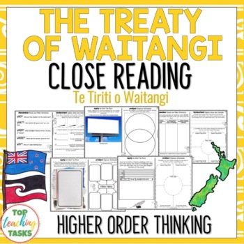Treaty of Waitangi Reading Comprehension Passages and Questions for Waitangi Day
