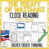Treaty of Waitangi New Zealand Reading Comprehension Passa