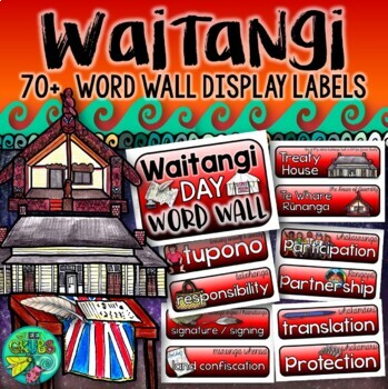 Waitangi Day Word Wall Labels