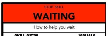 Waiting Social Skill Steps Poster - The Empower Program K-2