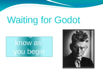 Waiting for Godot by Samuel Beckett - introduction notes