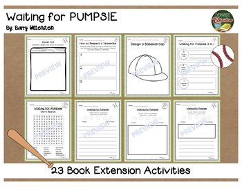 Waiting for Pumpsie by Wittenstein 23 Book Extension Activities NO PREP