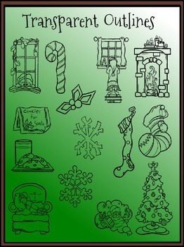 Waiting for Santa Clipart (14 FREE Elements Included)