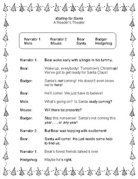 Waiting for Santa  --  A Christmas Reader's Theater