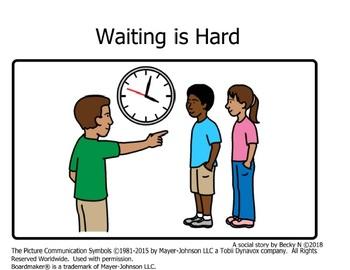 Waiting is Hard Social Story