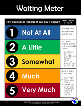 Waiting is Not Easy! – Managing Waiting - PreK-2 No Prep Lesson & Activities