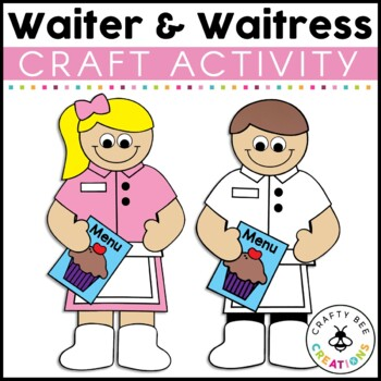 Waitress & Waiter Cut and Paste