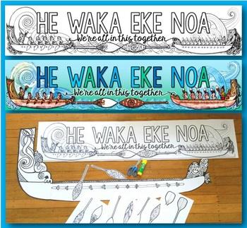 Waka Bundle {3D Waka Taua, Facts Booklet, Clip Art & Wall Display}