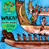 Waka & Hoe/Paddle Clip Art