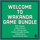 Wakanda / Black Panther Game Bundle - Sub Tub, Bingo, Word Search, Fun Friday