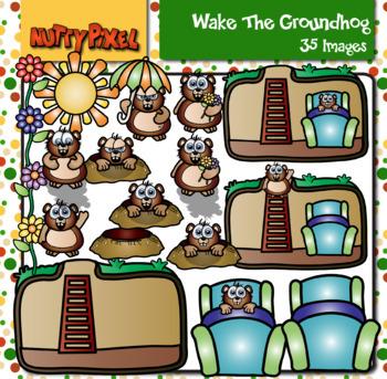 Wake The Groundhog - Clipart