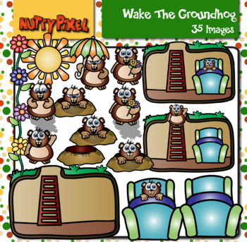 Wake The Groundhog - Clipart