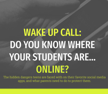 Wake Up Call: Do You Know Where Your Students Are... Online? (Google Slides)