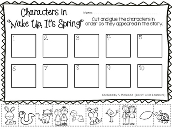 Wake Up, It's Spring! Story Extension Activities