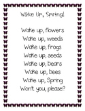 Wake Up Spring Poem and Activity