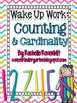 Wake Up Work: Counting & Cardinality {Common Core Aligned}
