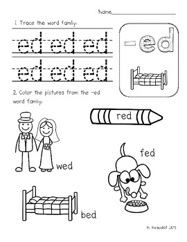 Wake Up Work: Short E Word Families