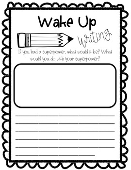 Wake Up Writing Freebie
