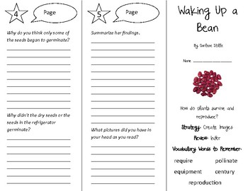 Waking up a Bean Trifold - 4th Grade Literacy by Design Theme 4