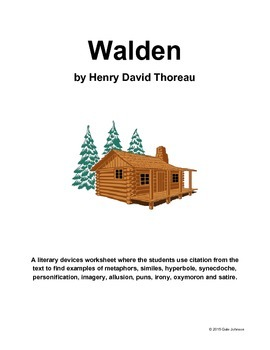 Walden Literary Devices Worksheet - Grades 9-12