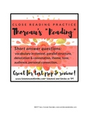 "Close Reading: Thoreau's Walden, ""Reading"""