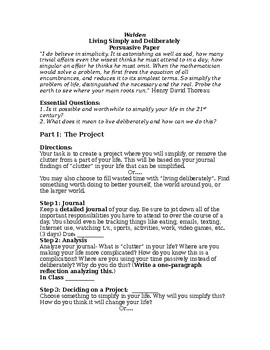 Walden Pond- Simplify Project and Research Paper