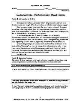 Walden Quotation Analysis