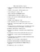 Walden- Unit Outline, Vocabulary List, Homework, and Discussion Questions