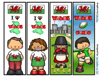 Wales Bookmarks -  4 Designs