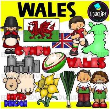 Wales Clip Art Bundle {Educlips Clipart}